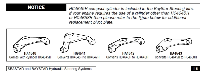 Plate HA4643 - Transforms cylinder HC4645H to HC4658H 5