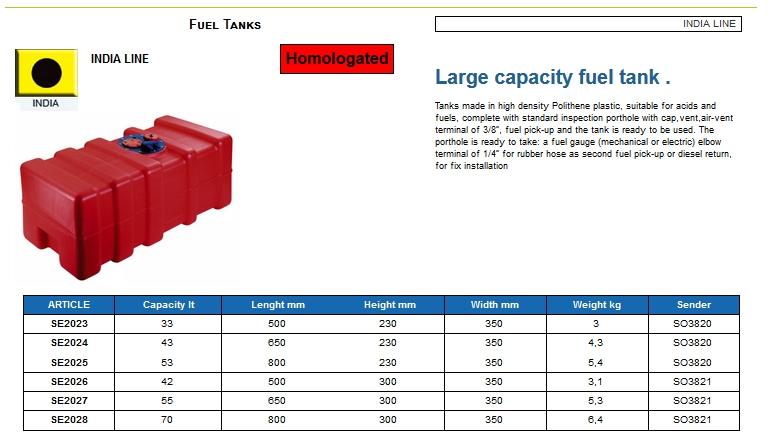 Fuel tank in Eltex, CE certified lt. 42 - (CAN SB) Kod SE2026 6