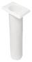 Portacanne polipr. ovale UV stab. bianco 240 mm - Code 41.164.06 16