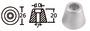Anoda wymienna turbiny dziobowej/rufowej do Side-Power (Sleipner) - Anodo ric. all. rif.orig. 61180 - Kod. 43.070.21 18