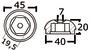 Anoda wymienna turbiny dziobowej/rufowej do Side-Power (Sleipner) - Anodo ric. all. rif.orig. 61180 - Kod. 43.070.21 19