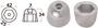 Anoda wymienna turbiny dziobowej/rufowej do Side-Power (Sleipner) - Anodo ric. all. rif.orig. 61180 - Kod. 43.070.21 20