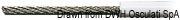 Edelstahlseil AISI 316 49-Drähte PVC-Besch. 3x6mm - Art. 03.180.06 3