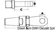 Splicing eyelet terminal AISI 316 Ø 8 mm - Code 05.660.80 20