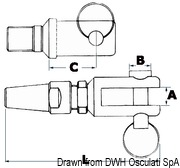 Splicing eyelet terminal AISI 316 Ø 7 mm - Code 05.660.70 22