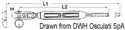 """Ściągacz do lin otwarty ze stali nierdzewnej - Turnbuckle 3/8"""" for cable 5 mm - Kod. 07.183.04 9"""