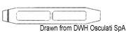"""Ściągacz do lin otwarty ze stali nierdzewnej - Turnbuckle 3/8"""" for cable 5 mm - Kod. 07.183.04 5"""