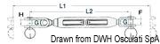 """Ściągacz do lin otwarty ze stali nierdzewnej - Turnbuckle 3/8"""" for cable 5 mm - Kod. 07.183.04 10"""