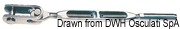 """Ściągacz do lin otwarty ze stali nierdzewnej - Turnbuckle 3/8"""" for cable 5 mm - Kod. 07.183.04 4"""