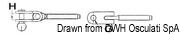 """Ściągacz do lin otwarty ze stali nierdzewnej - Turnbuckle 3/8"""" for cable 5 mm - Kod. 07.183.04 6"""