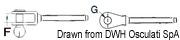 """Ściągacz do lin otwarty ze stali nierdzewnej - Turnbuckle 3/8"""" for cable 5 mm - Kod. 07.183.04 8"""