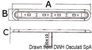 Slim Leuchte Mini, stoßfest 12 V 3 W - Art. 13.197.25 23