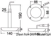 Lampa podwodna do oświetlania podwodzia / pawęży rufowej / trapów - Underwater spot light w/ 6 white LEDs - Kod. 13.284.01 29