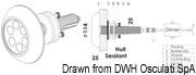 Lampa podwodna do oświetlania podwodzia / pawęży rufowej / trapów - Underwater spot light w/ 6 white LEDs - Kod. 13.284.01 24