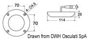 Lampa podwodna do oświetlania podwodzia / pawęży rufowej / trapów - Underwater spot light w/ 6 white LEDs - Kod. 13.284.01 28