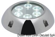 Lampa podwodna do oświetlania podwodzia / pawęży rufowej / trapów - Underwater spot light w/ 6 white LEDs - Kod. 13.284.01 26