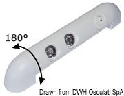 LED-Leuchte, 180° schwenkbar 2x1 W HP - Art. 13.838.20 4