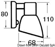 Batsystem Opal II halogen spotlight ABS chromed - Code 13.869.03 15