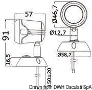 Articulated HI-POWER LED white spotlight 12/24 V - Code 13.896.01 14