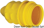 Marinco 4-wire triophase socket AISI 316 - Artnr: 14.487.09 58