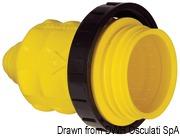 Marinco 4-wire triophase socket AISI 316 - Artnr: 14.487.09 60