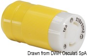 Marinco 4-wire triophase socket AISI 316 - Artnr: 14.487.09 61