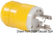 Marinco 4-wire triophase socket AISI 316 - Artnr: 14.487.09 57