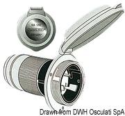 Marinco 4-wire triophase socket AISI 316 - Artnr: 14.487.09 55