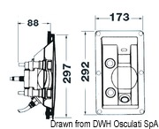 Whale flush mount shower no cover cold/hot water - Code 17.031.06 6