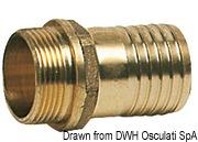 "Cast brass male hose adaptor 1"" x 25 mm 7"