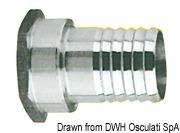 "Штуцер под шланг, внутренняя резьба. - SS female hose adaptor 1""1/4 x 45 mm 7"