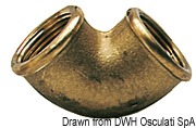 "Угольник латунный переходной внутр/внутр - Brass elbow female/female 3/4"" x 1"" 6"