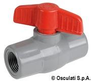 "Polypropylene/nylon ball valve 1/2"" - Artnr: 17.233.02 4"