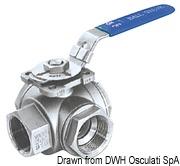 """3-way ball valve AISI 316 1""""1/4 4"""