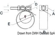 Collier de serrage Heavy Duty AISI 316 86/94 mm - Art. 18.025.06 8