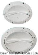 Inspektionsdeckel weiß verbesserte Öffnung 127 mm - Art. 20.202.00 7