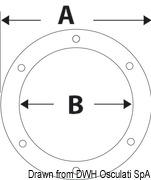 Inspektionsdeckel weiß verbesserte Öffnung 127 mm - Art. 20.202.00 9