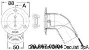 Korek do wlewu wpuszczany, ze stali inox AISI 316 wybłyszczanej, z kolankiem 30°. WASTE - Kod. 20.867.06 6