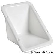 Schowek do zabudowy z tworzywa sztucznego przeznaczony do osadzenia korka wlewu - Flush plug housing white plastic - Kod. 20.899.00 11