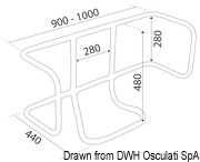 Vertical liferaft holder - Artnr: 22.700.01 11