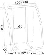 Vertical liferaft holder - Artnr: 22.700.01 14