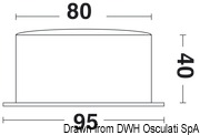 Vion A80 MIC CHR quartz clock radio sector silence - Artnr: 28.903.81 15