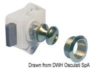 Druckknopfschloß Messing, verhromt 16 mm - Art. 38.182.01 2