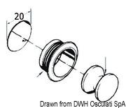 Druckknopfschloß Messing, verhromt 16 mm - Art. 38.182.01 3