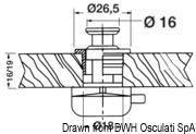 Druckknopfschloß Nylon/Messing, verchromt 16 mm - Art. 38.182.09 3