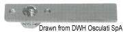 Uchwyt denny i do blokowania pokładu - SS rise floor pull, diam.70mm - Kod. 38.426.80 7