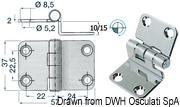 Winkelscharnier 57x37x15 mm - Art. 38.441.56 3