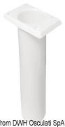 Portacanne polipr. ovale UV stab. bianco 240 mm - Code 41.164.06 27
