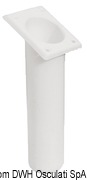 Portacanne polipr. ovale UV stab. bianco 240 mm - Code 41.164.06 29