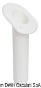 Portacanne polipr. ovale UV stab. bianco 240 mm - Code 41.164.06 31